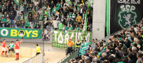 Grande tifo no derby do Hóquei Patins